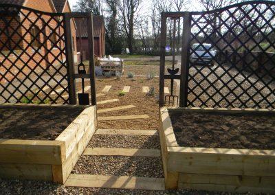 North Walsham low maintenance garden