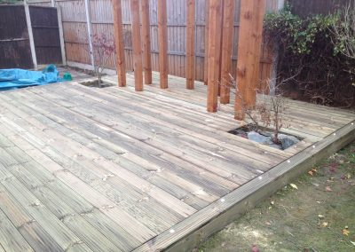 Planting space in decking