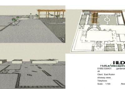 East Ruston, new build, walled garden