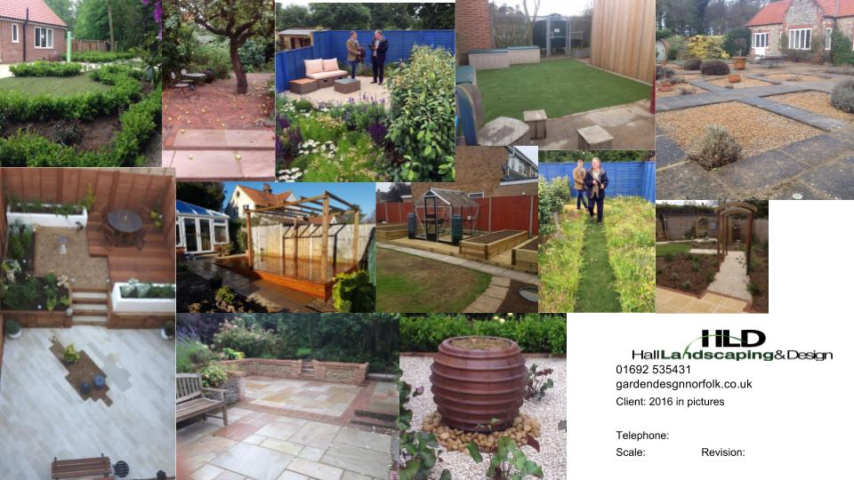 A few of the gardens we have built in 2016