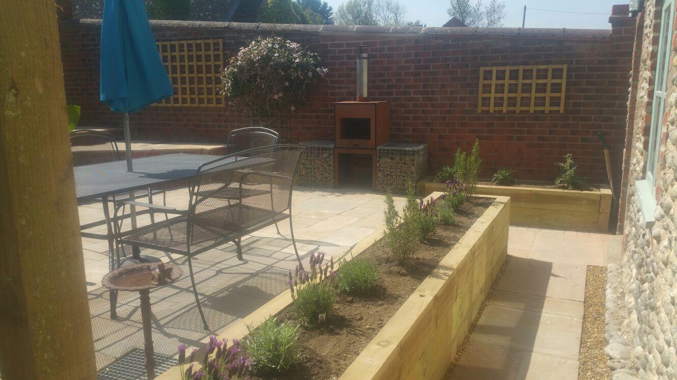 Corten BBQ courtyard design