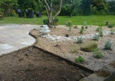 Low maintenance dry garden